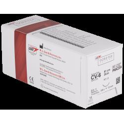 A CV-6 suture 12 Stk. Atraumatische Nadel 13mm P6K23A