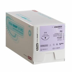 Nahtmaterial PGA ungefärbt Nr.4-0A/C-17 Rückstichnadel, 3/8 Kreis PSN386V