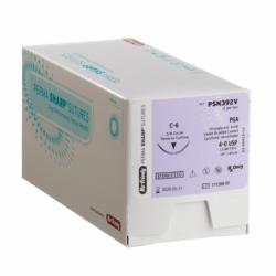 Nahtmaterial PGA ungefärbt Nr.4-0A/C-19 Rückstichnadel, 1/2 Kreis PSN724V