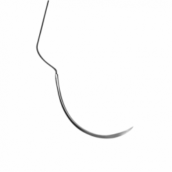 Nahtmaterial Seide Nr.4-0NA/C-43 Rückstichnadel, 1/2 Kreis PSN7763S
