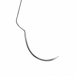 Nahtmaterial Seide Nr.3-0NA/C-6 Rückstichnadel, 3/8 Kreis PSN7772S
